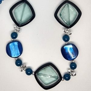 Gorgeous Blue, Green, and Black Necklace